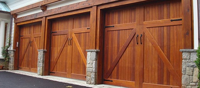 Custom Faux Wood Garage Doors in Tulsa