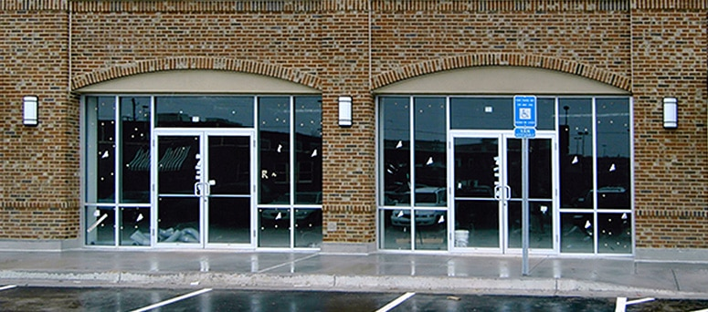 Glass Store Front Commercial Doors