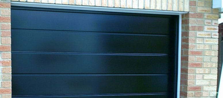 Black Garage Doors in Wichita, Kansas