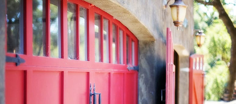 Red Garage Doors in Tucson